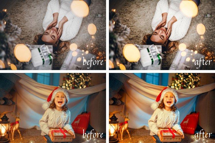 Moody Christmas Mobile & Desktop Lightroom Presets example image 4