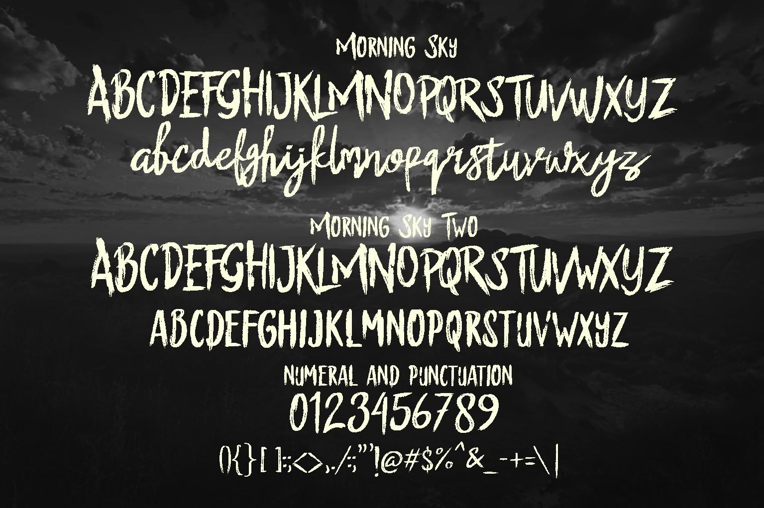 The Morning Sky Font Duo example image 2