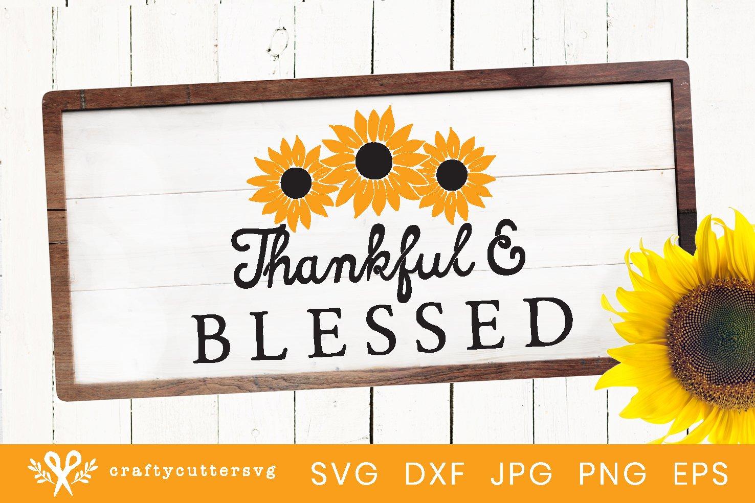 Sunflower Svg | Sunflower Farmhouse Sign Cut File example image 1