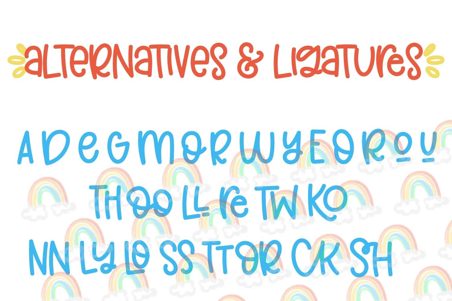 Double Rainbow - A Font Duo with Doodle Extras example image 5