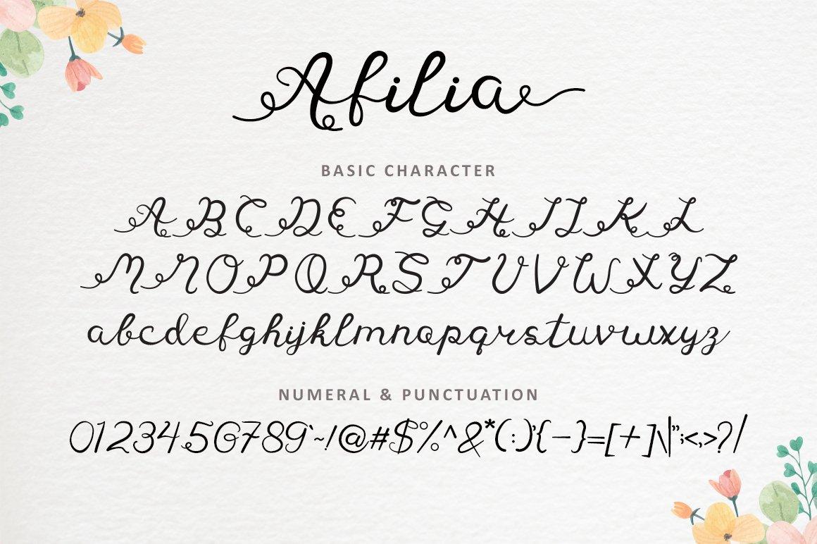 Afilia - Modern Calligraphy example image 8