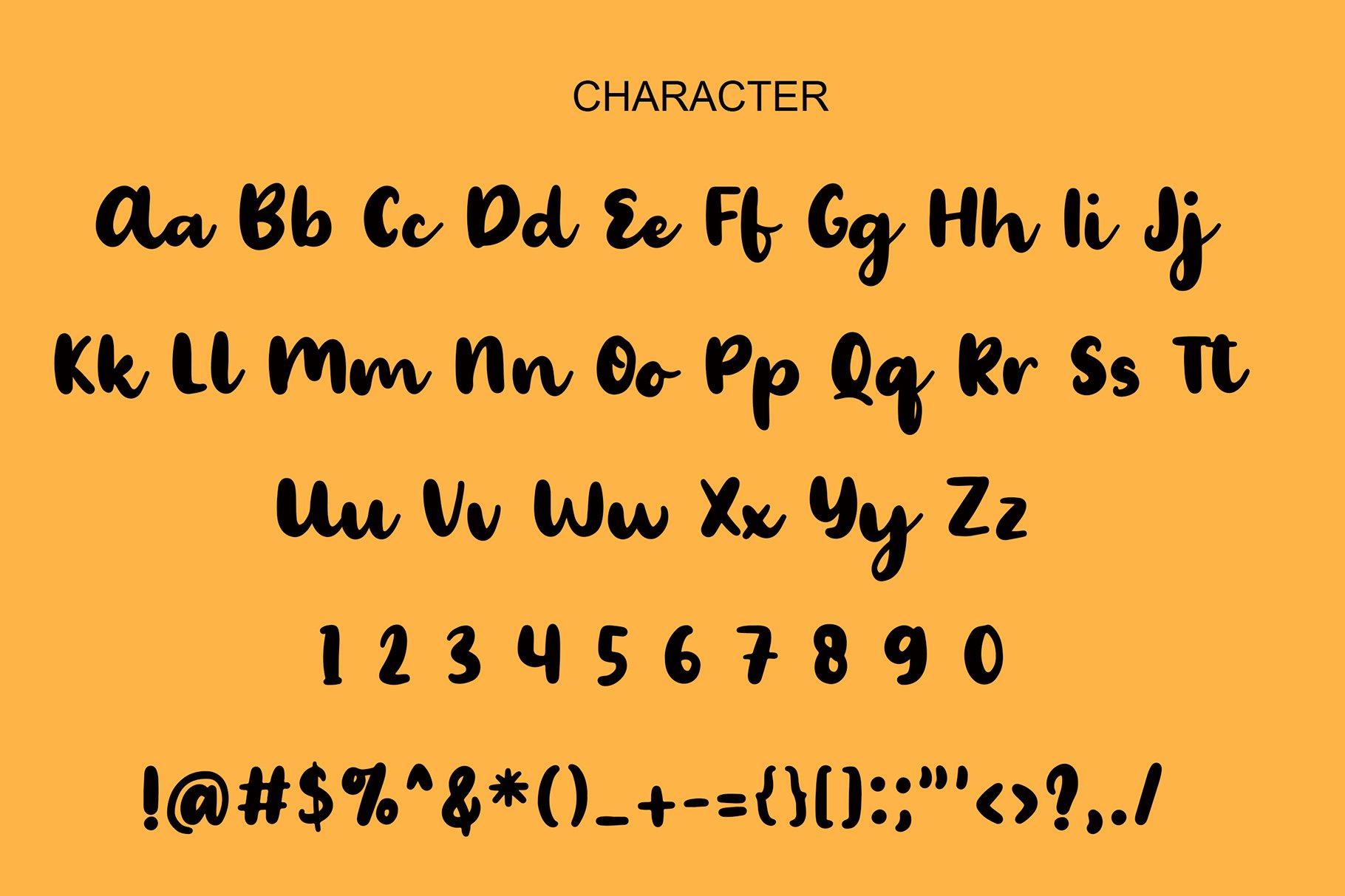 Palmera Brush Font example image 2