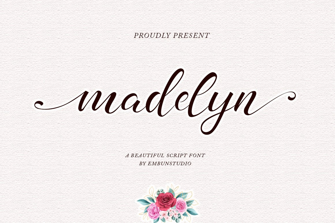 madelyn - Chic Script font example image 1
