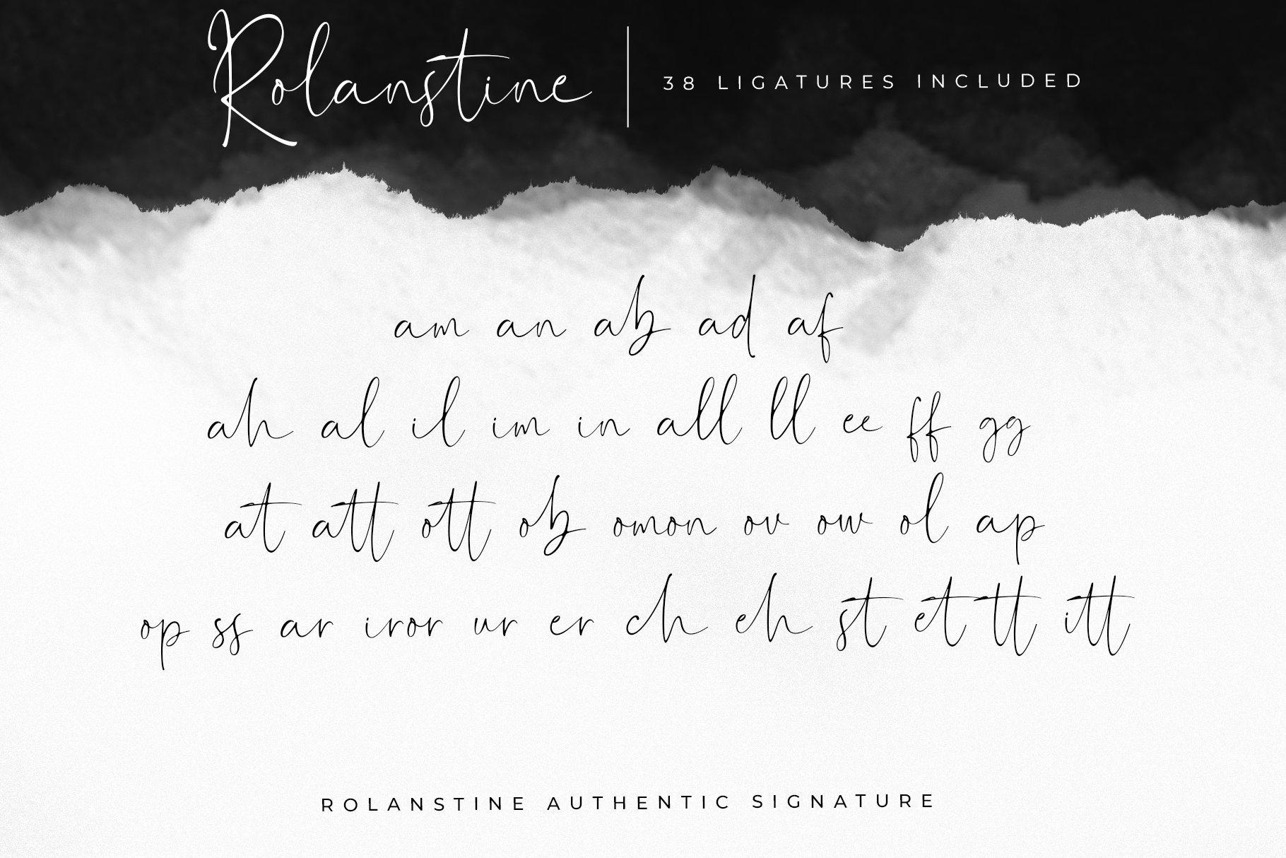 Rolanstine Authentic Signature example image 10