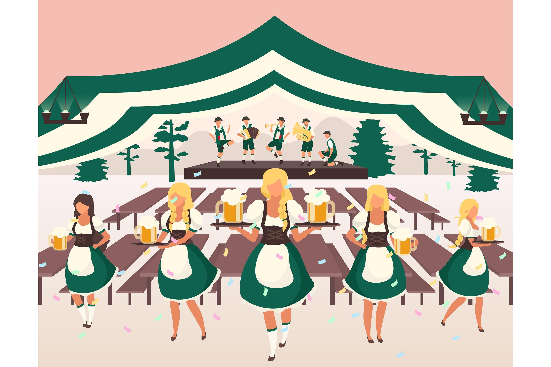 Download Oktoberfest Flat Vector Illustration 955408 Illustrations Design Bundles