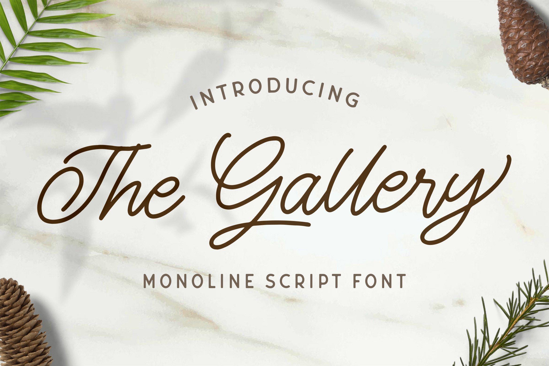 The Gallery - Monoline Script Font example image 1