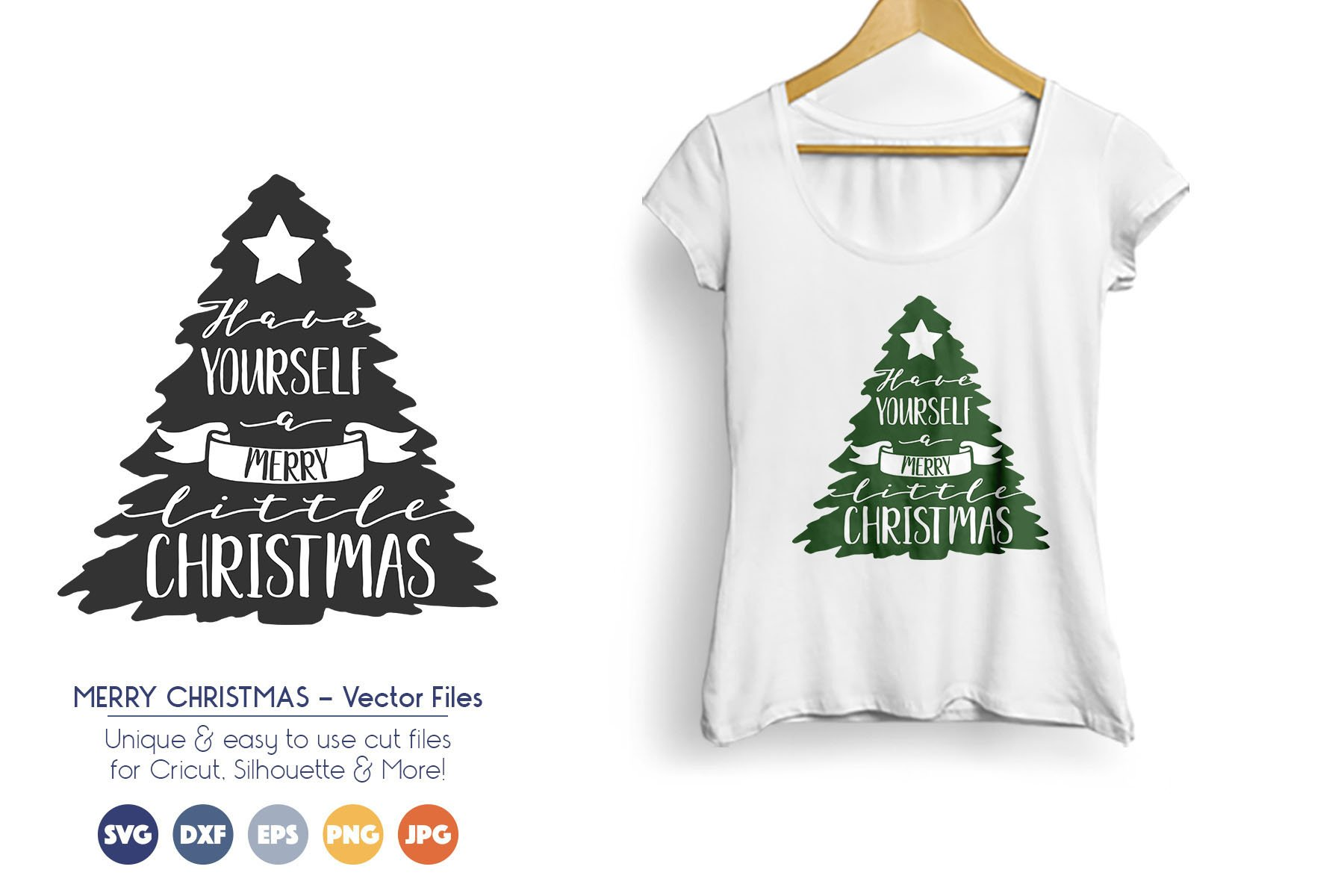 Christmas Tree - Merry Little Christmas SVG Files example image 1