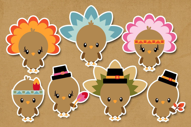 Thanksgiving Turkey Illustrations Clip Art example image 2