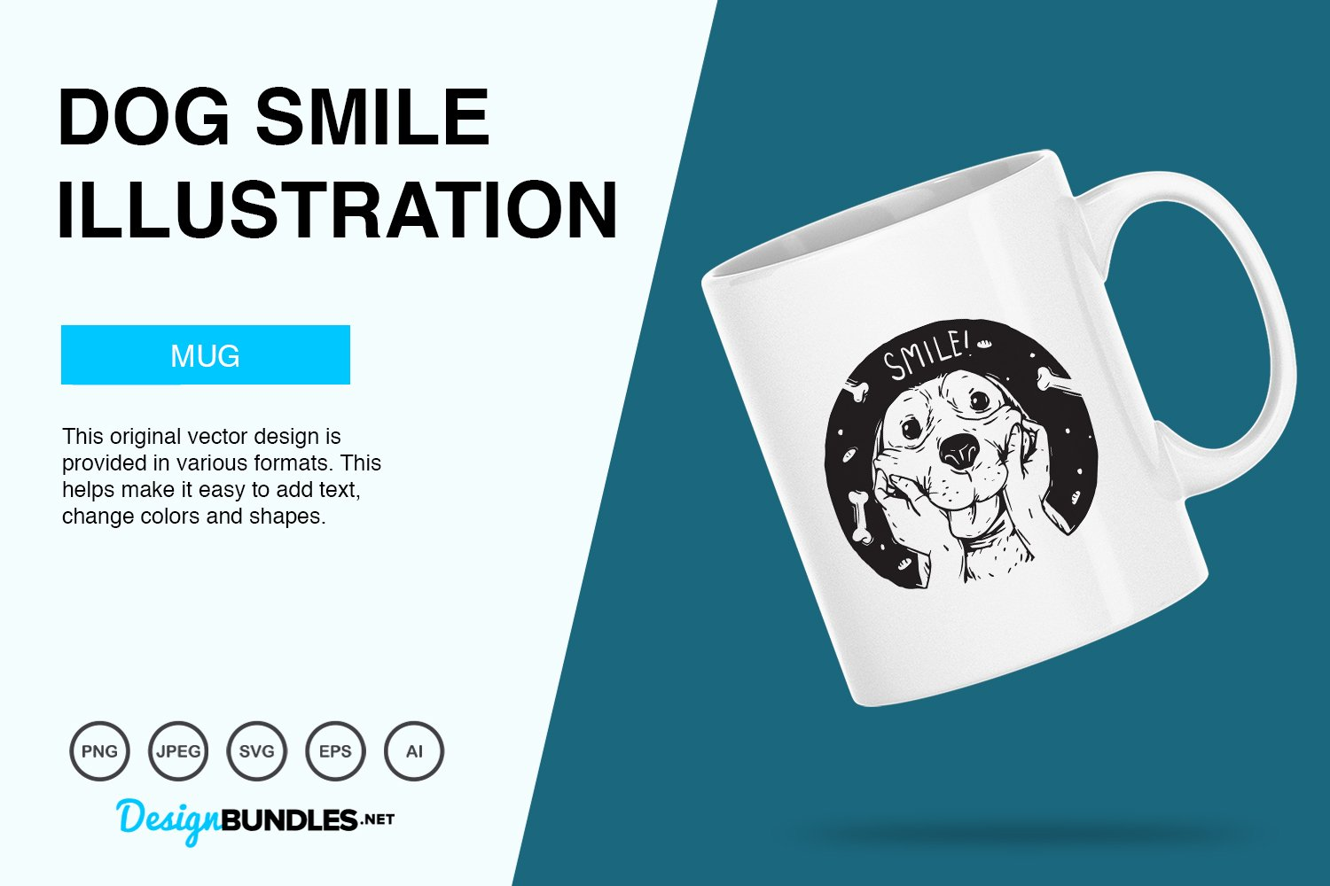 Dog Smile Vector Illustration example image 4