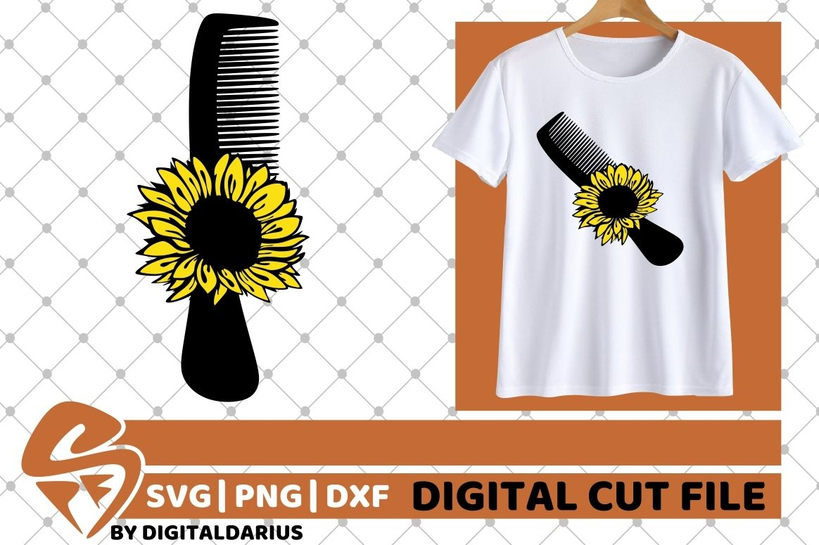 6x Hairdresser Designs Bundle svg, Sunflower, Hairstylist example image 4