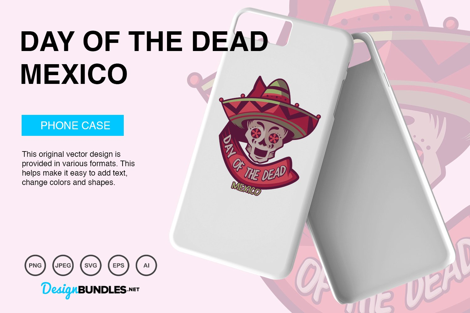 Day of The Dead Vector Illustration example image 3