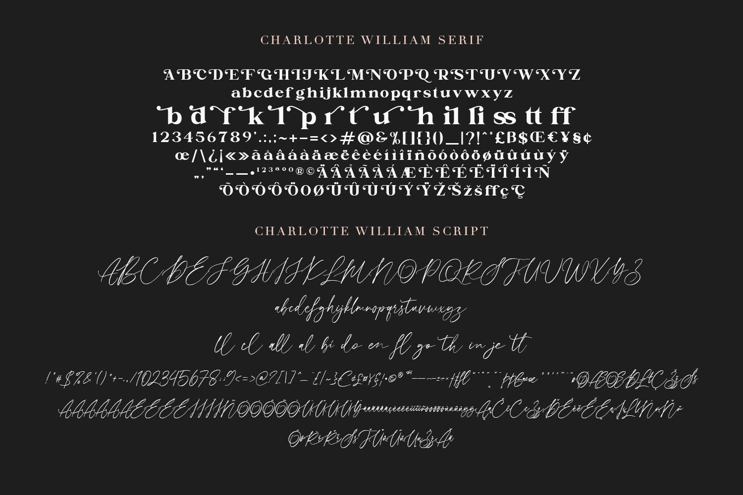 Charlotte William Font Duet example image 8