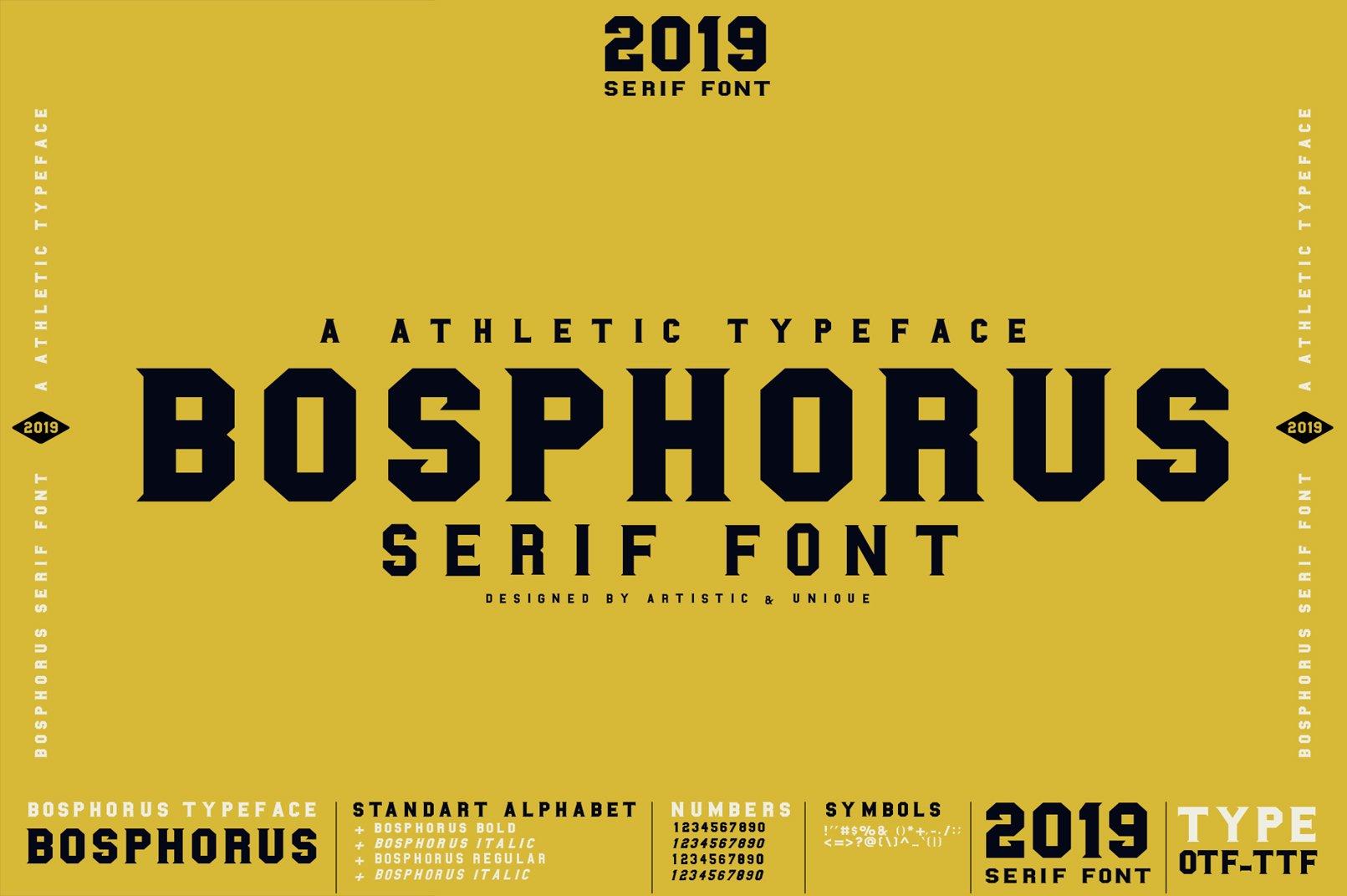 BOSPHORUS Serif font example image 1