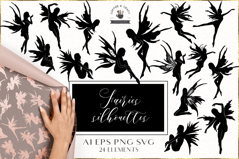 Fairies silhouettes set example image 1