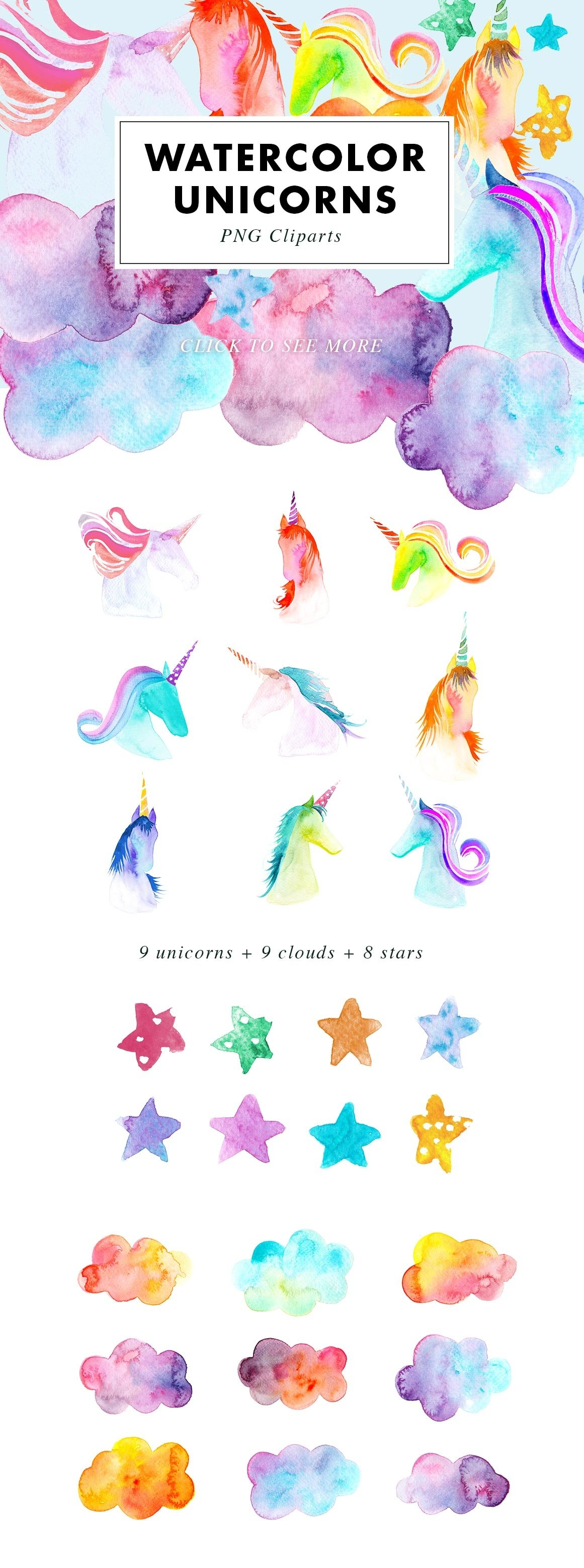 SALE | Watercolor Bundle | Best Sellers Clipart Illustration example image 13
