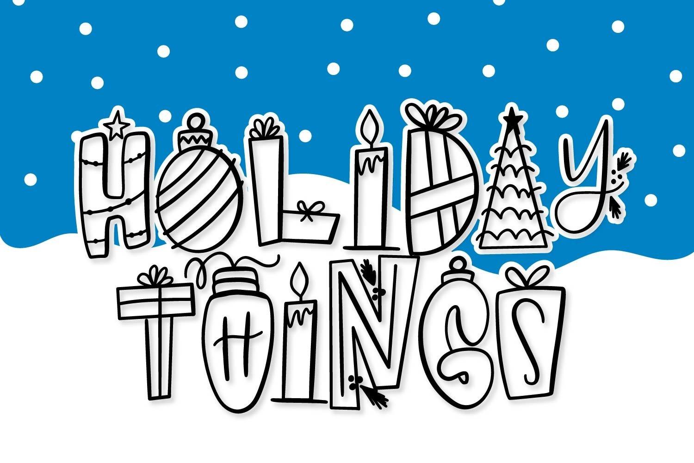 20 Christmas Fonts - A Christmas Font Bundle! example image 4