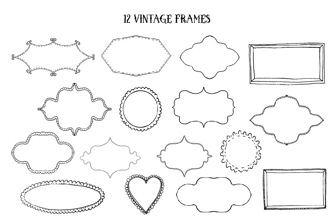 Vector Vintage Elements example image 6