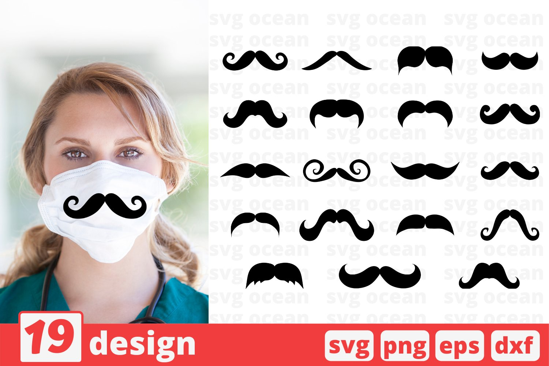 19 Mustache Face Mask Svg Pattern Mustache Face Mask Cricut 545039 Cut Files Design Bundles
