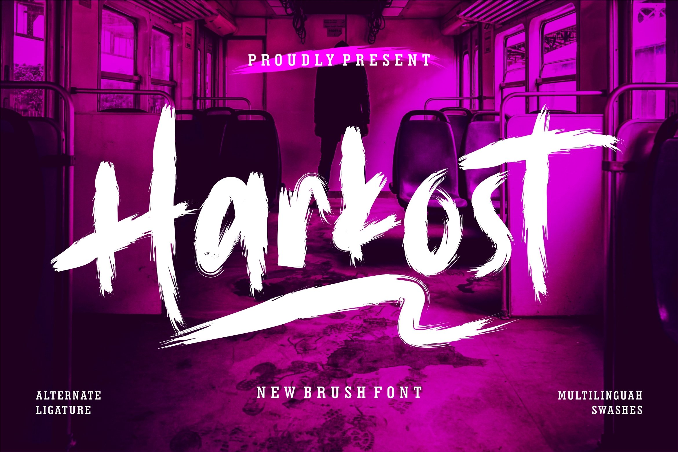 Harkost - New Brush Font example image 1