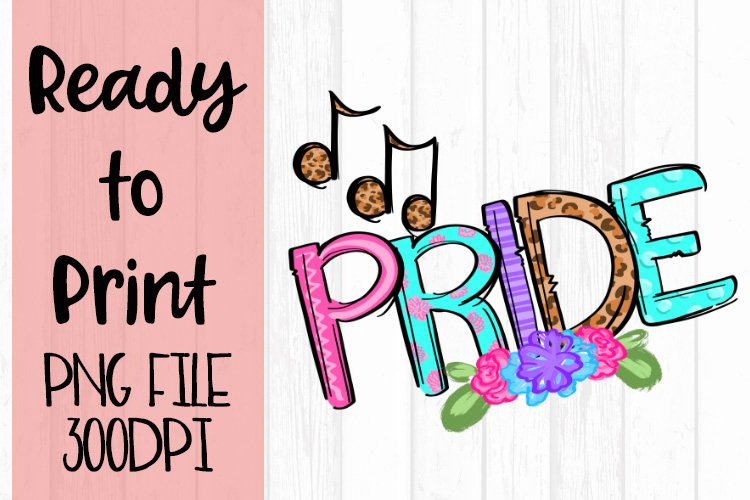 Doodle Pride Music Ready to Print example image 1