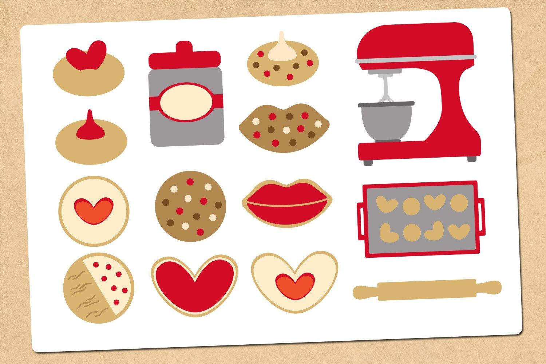 Valentine cookies illustrations clip art example image 2