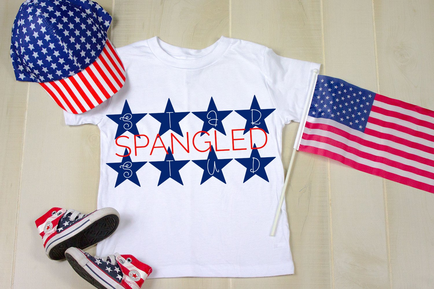 Bright Stars - A Hand-Drawn 4th of July Monogram Font example image 4