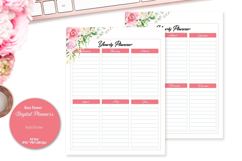 Rose Flower Digital Planner example image 5