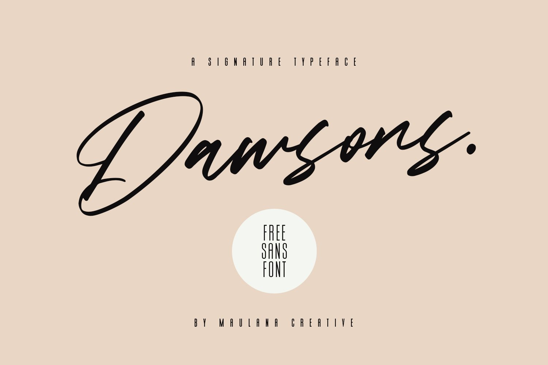 Dawsons Script - Free Sans Font example image 1