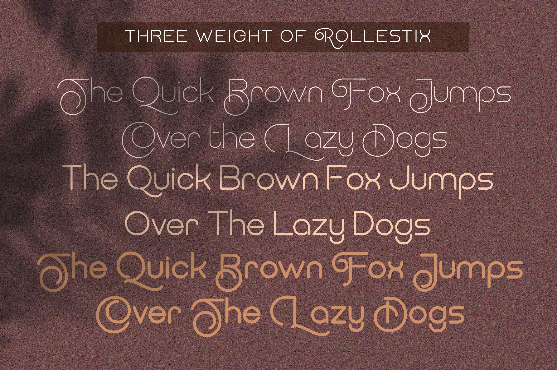 Rollestix - Rounded & Elegant sans serif example image 8