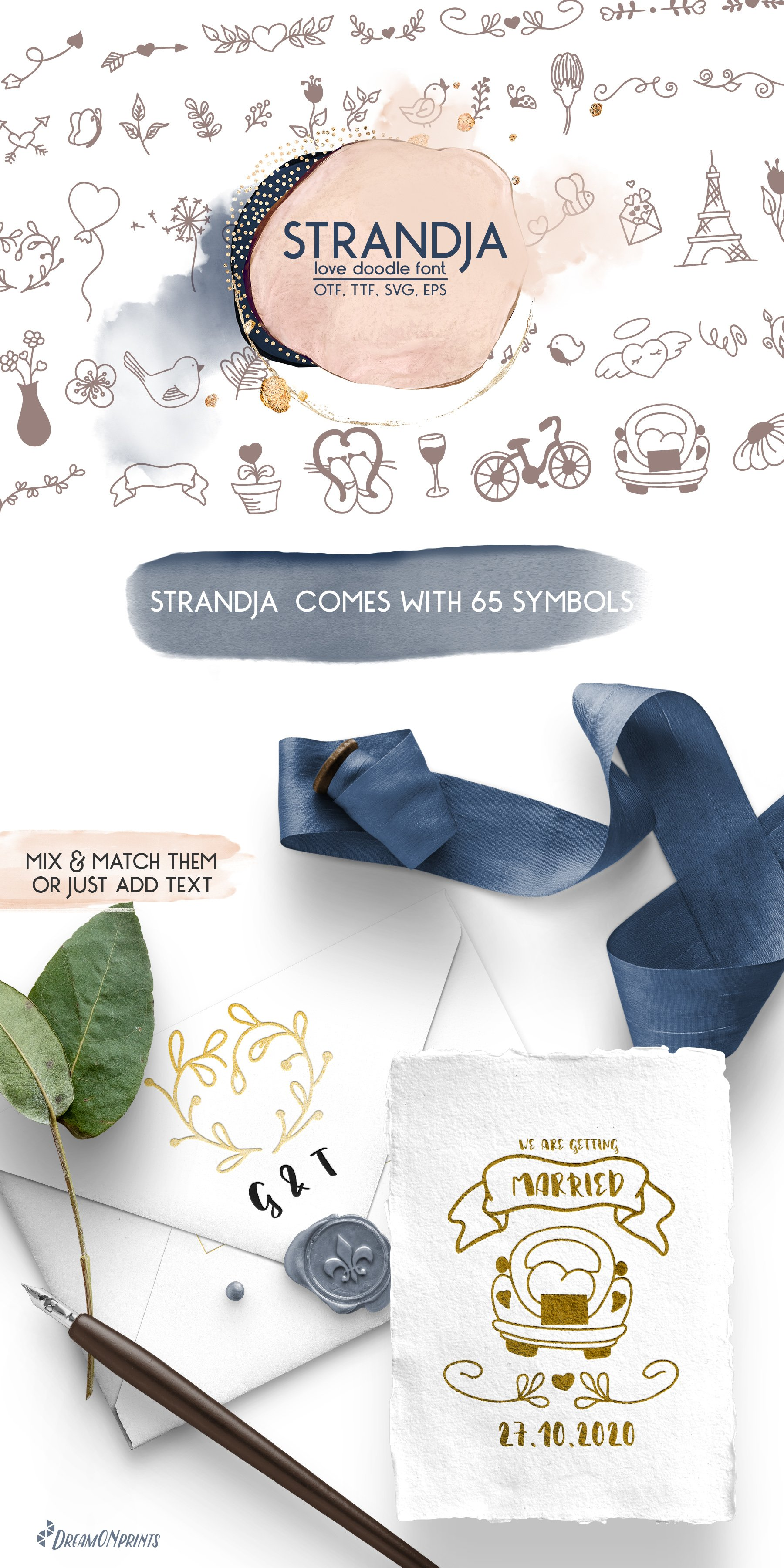 Strandja - Love Doodle Font example image 7