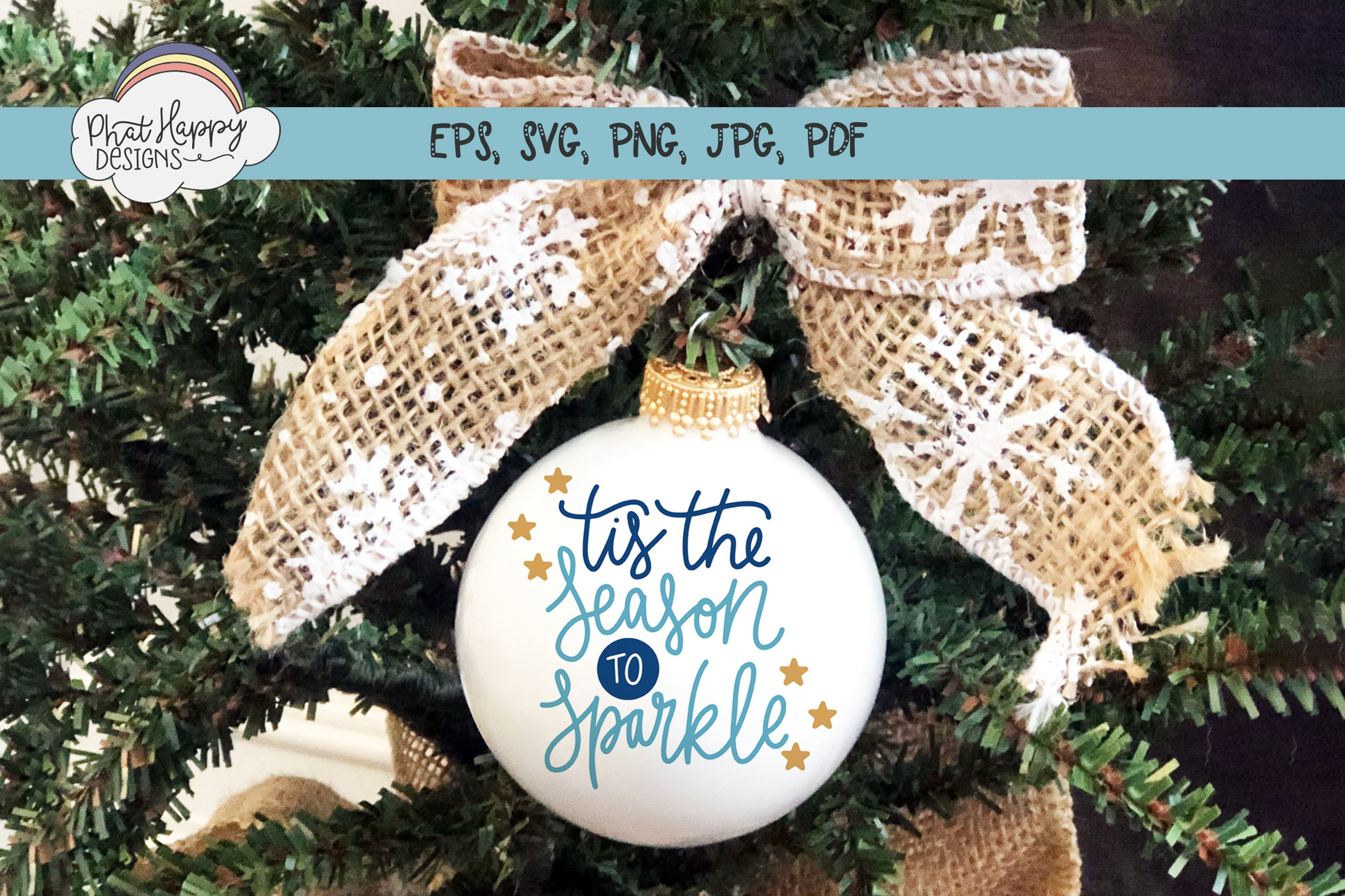 Season to Sparkle - Hand Lettered Christmas SVG example image 2