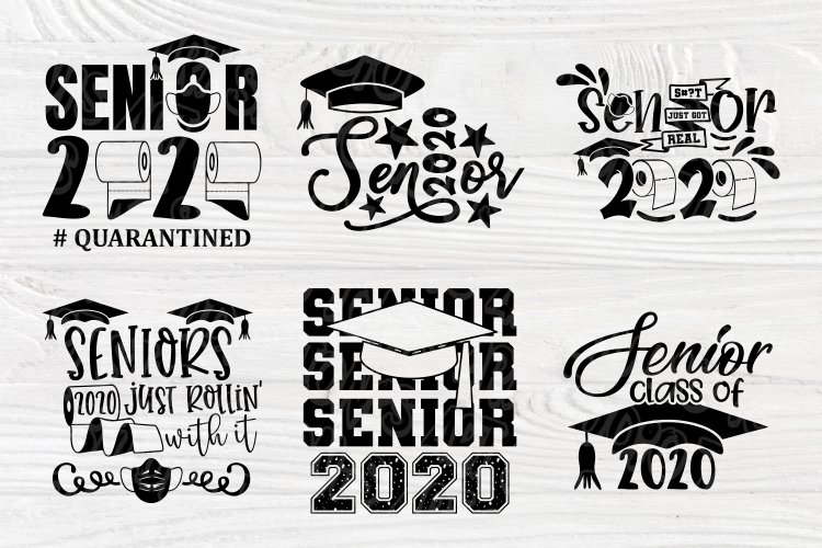 Senior 2020 Svg Graduation Svg Class Of 2020 Svg Cut File 570746 Cut Files Design Bundles