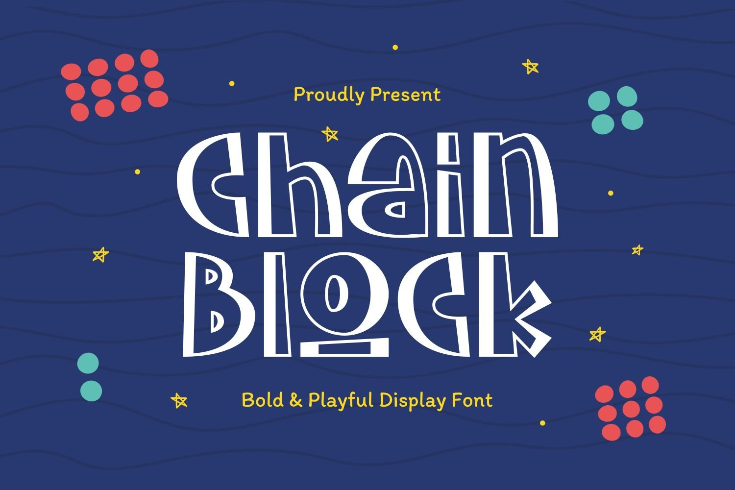 Chainblock - Bold & Playful Display Font example image 1