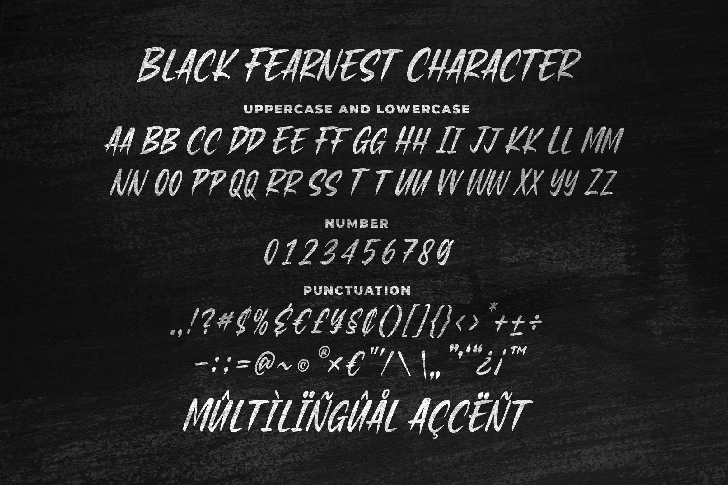 Black Fearnest - Strong Handwritten Font example image 5