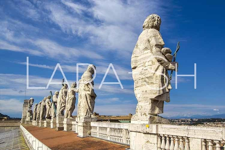 Eleven statues of apostles of Saint Peter's Basilica example image 1