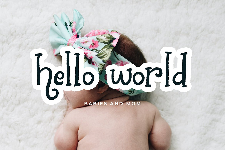 Chalk World Display Font example image 4