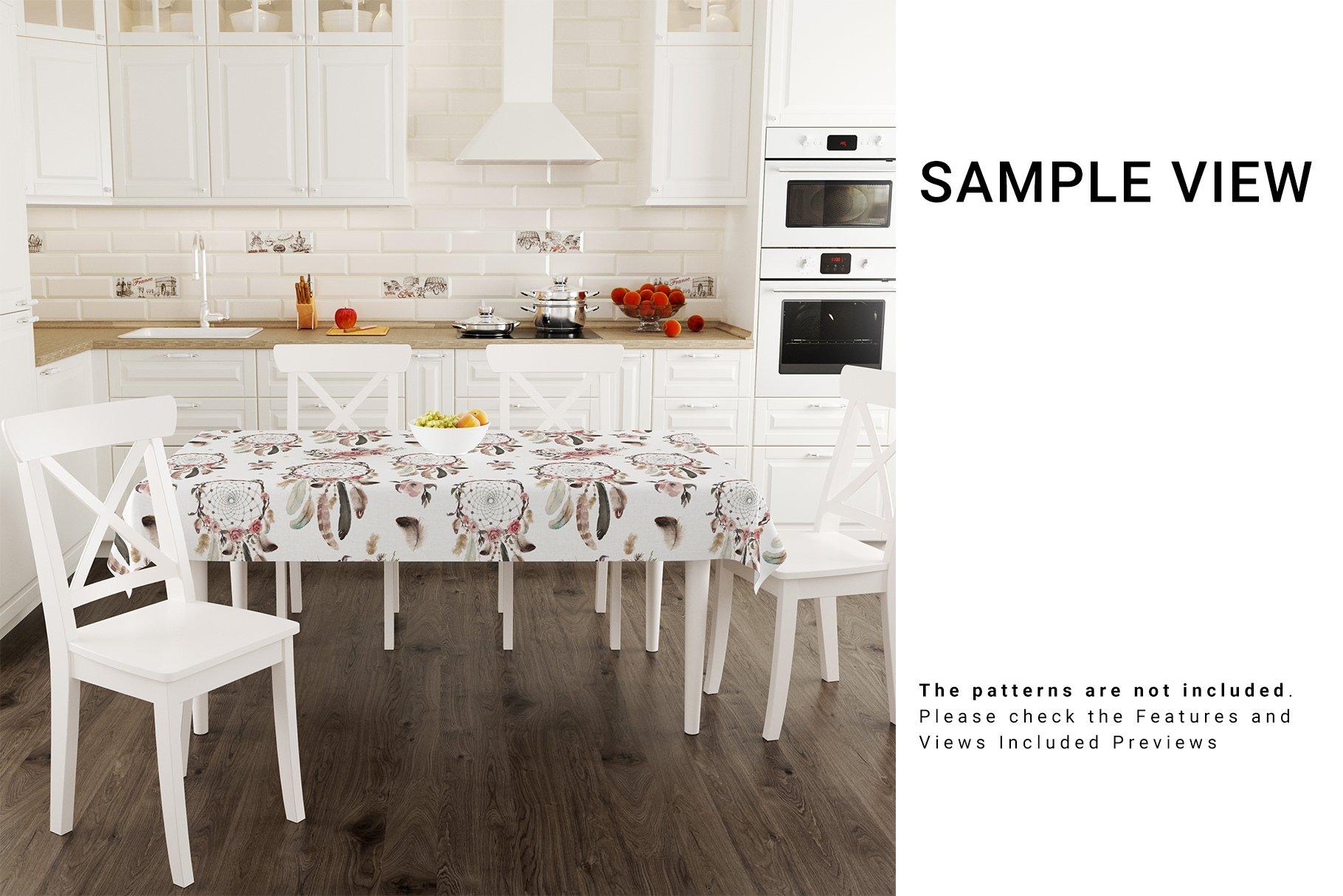 Kitchen Tablecloth 3D Mockup Set example image 3