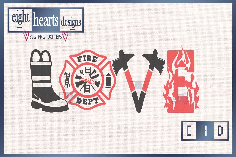 Love Firefighter Svg Dxf Png Cut File 189615 Svgs Design Bundles