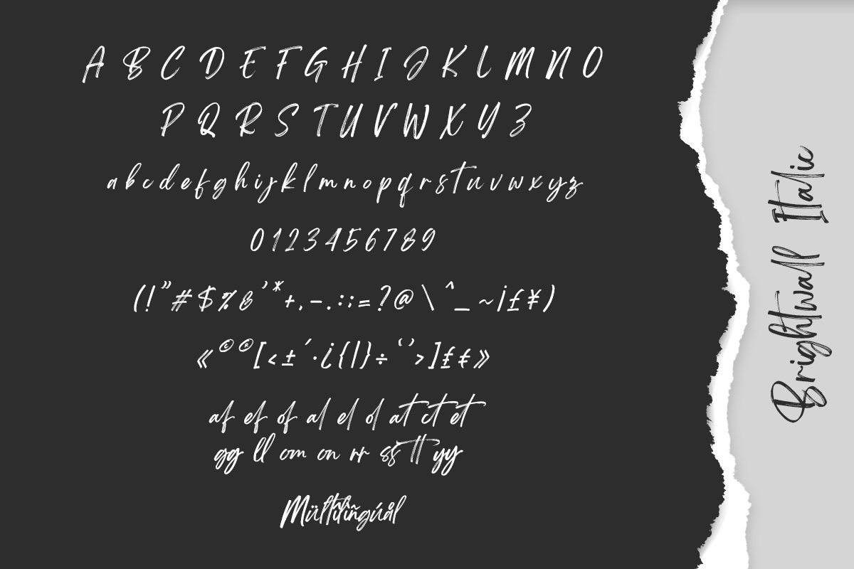 Brightwall Brush Font example image 15