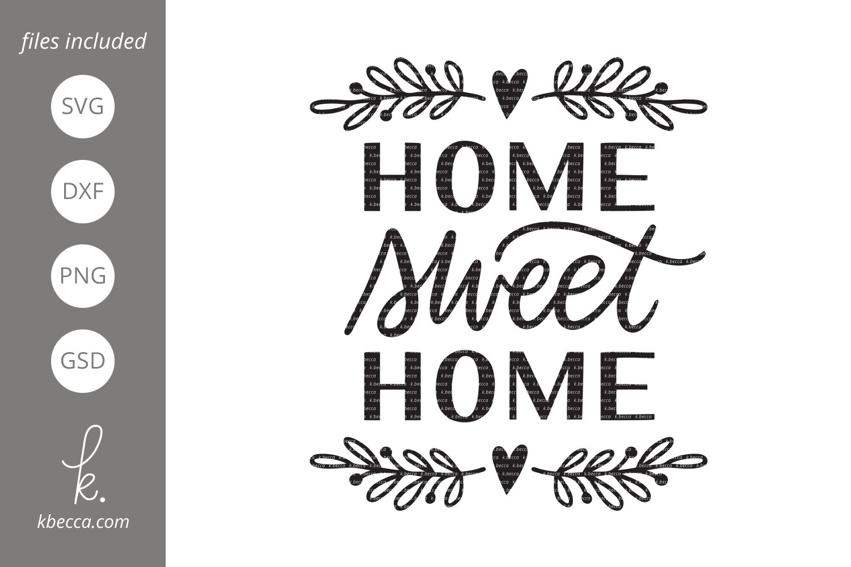 Home Sweet Home Svg 73726 Hand Lettered Design Bundles