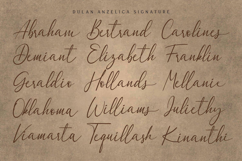 Dulan Anzelica - Signature Script Font example image 5