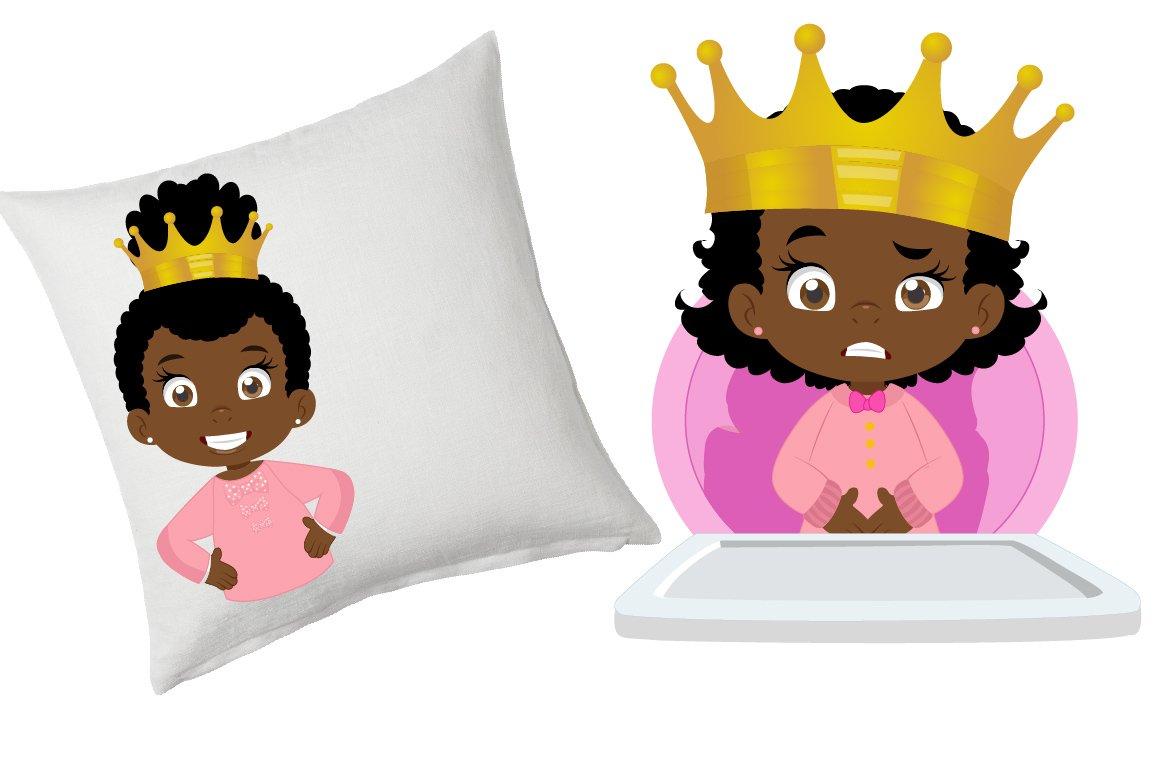 African American Baby queen clipart example image 3