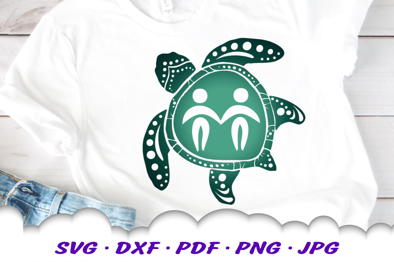 Gemini Zodiac Sign Sea Turtle SVG DXF Cut Files Bundle example image 5