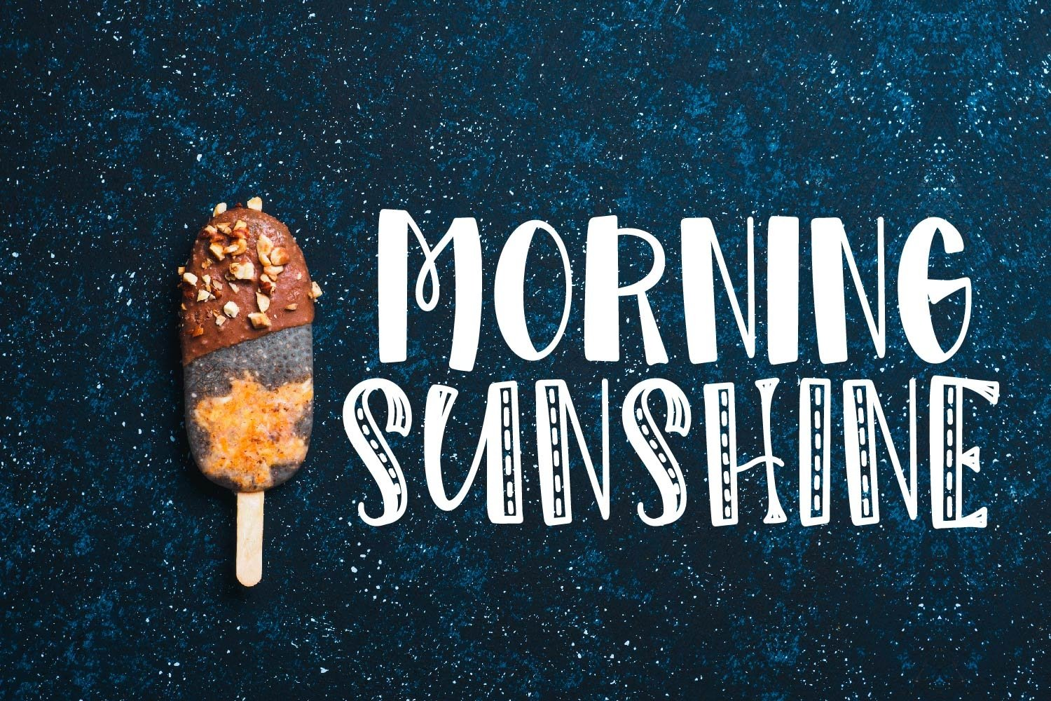 Morning Sunshine - A Silly Hand Lettered Font example image 1