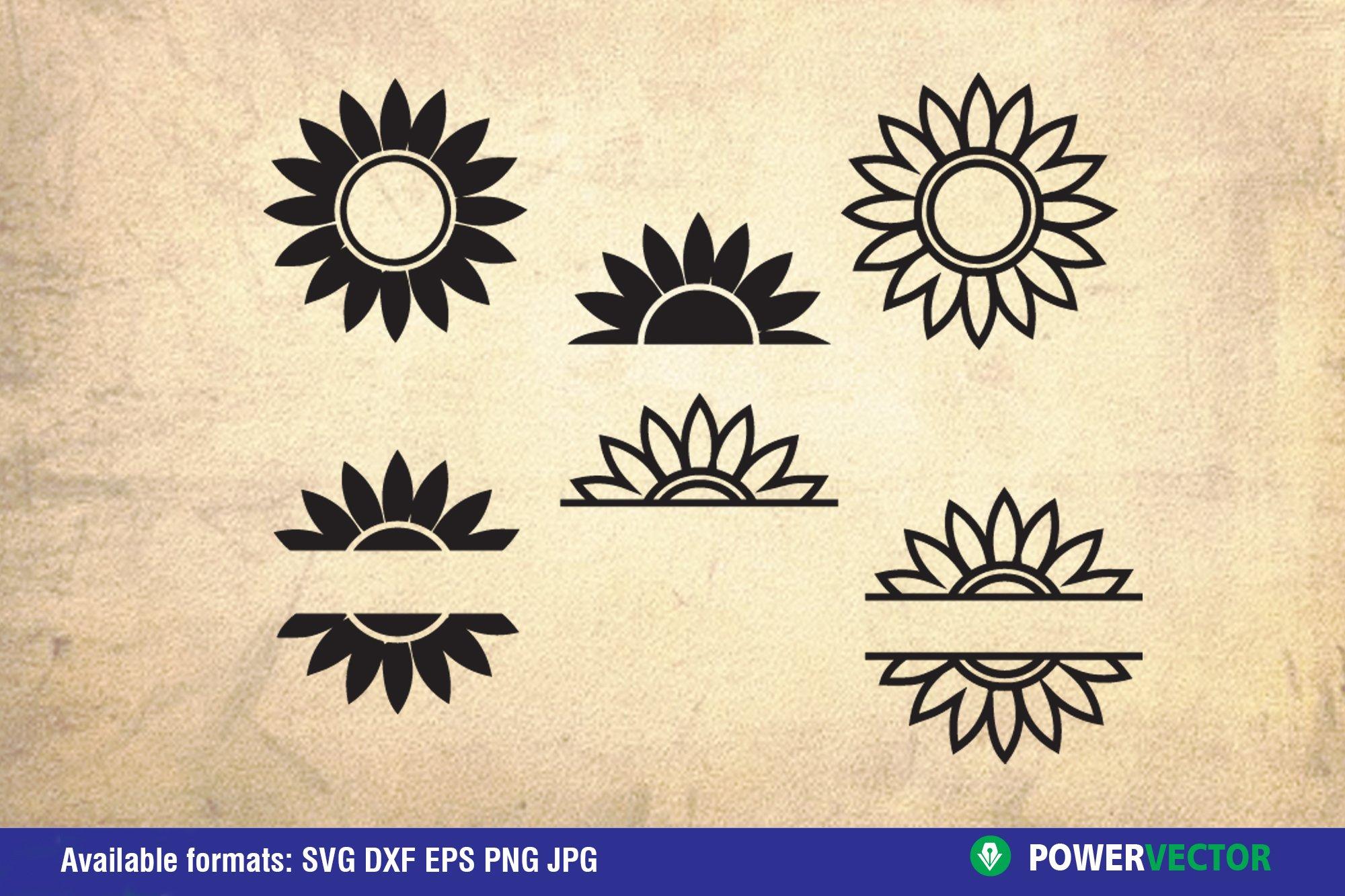 Flowers and Laurel Wreaths SVG Bundle example image 6