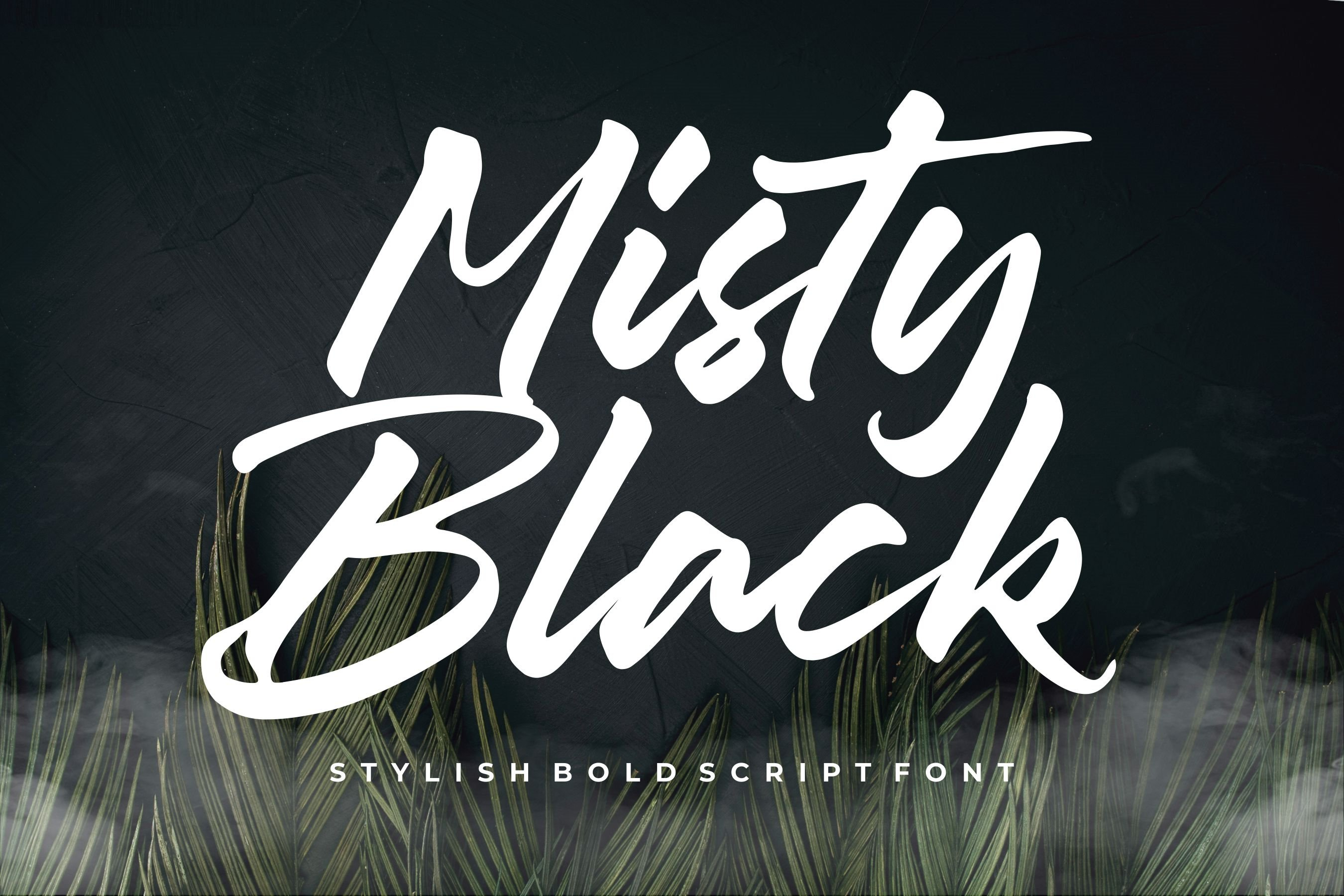 Misty Black Stylish Bold Script Font example image 1