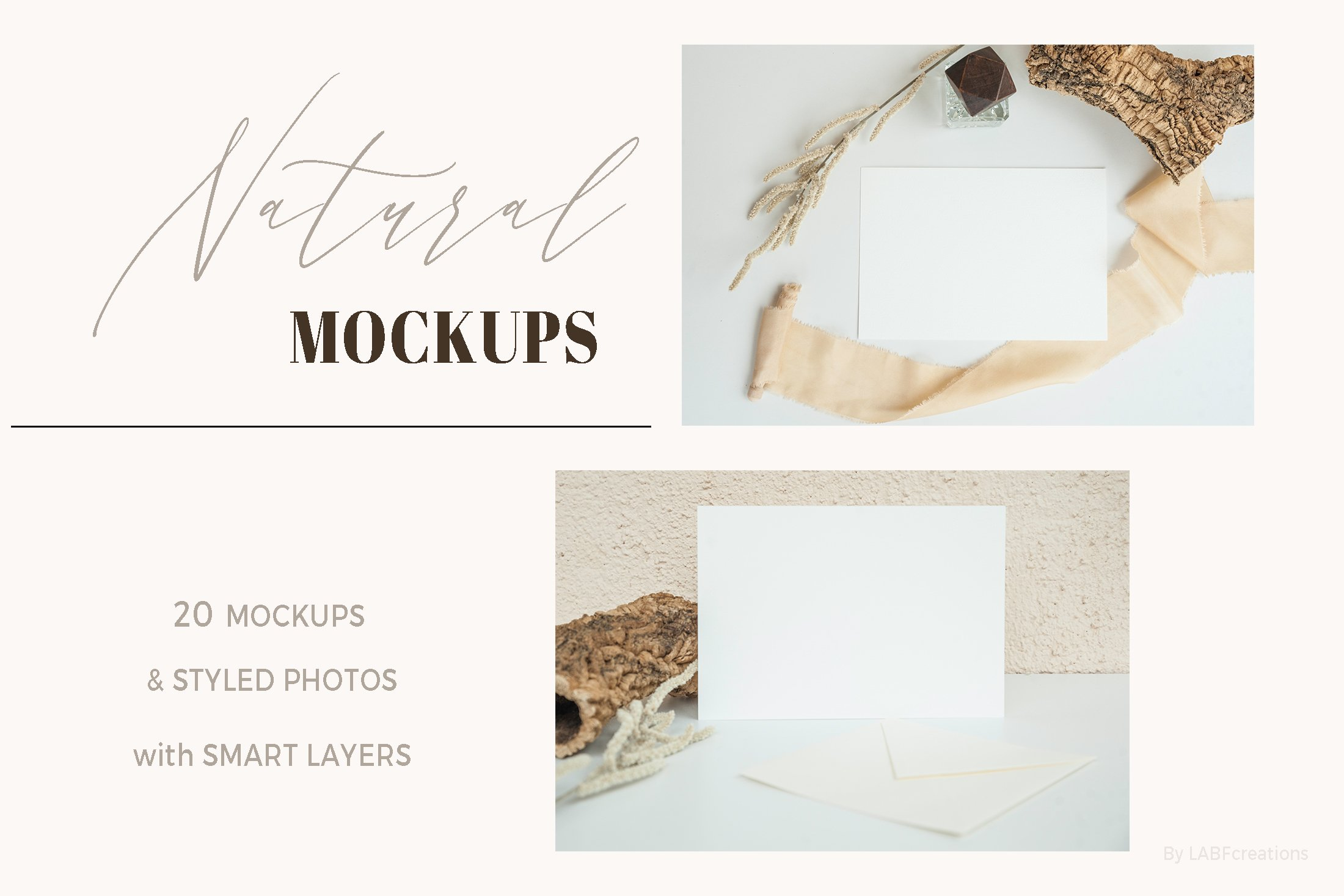Natural. Mockup and style photos Soft and delicate nude. example image 3