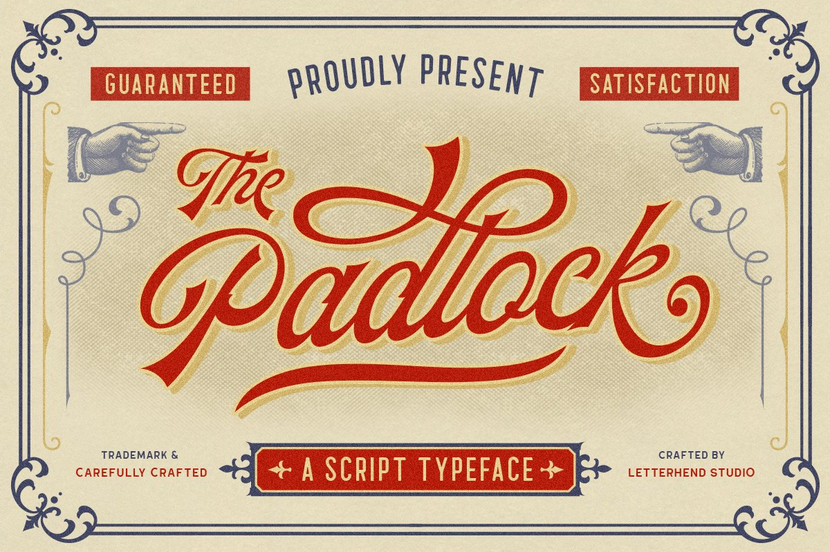 The Padlock - A Vintage Script example image 1
