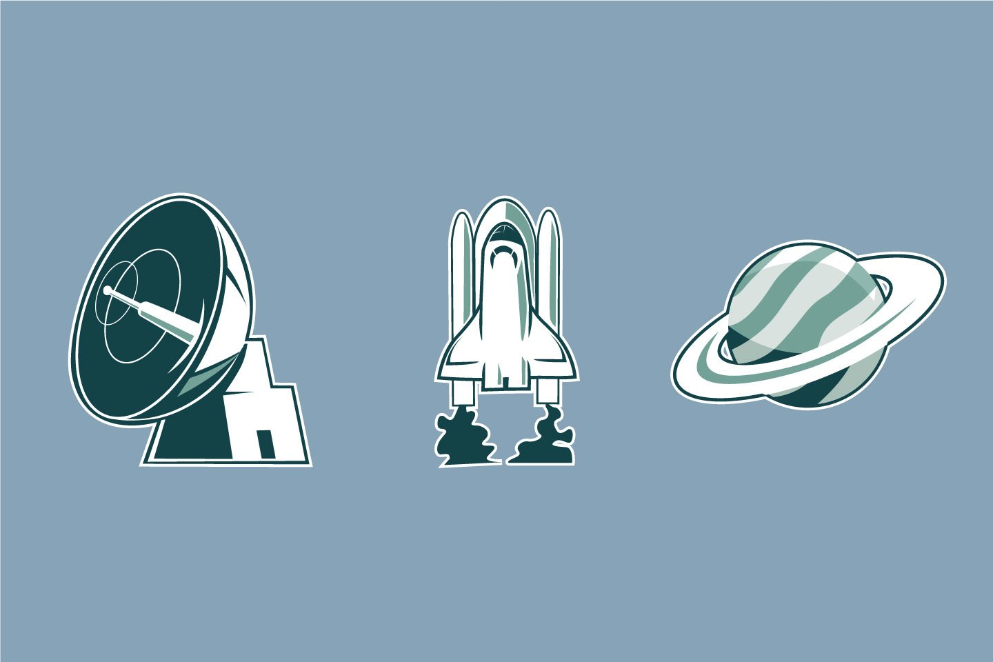Space Sticker illustrations example image 1