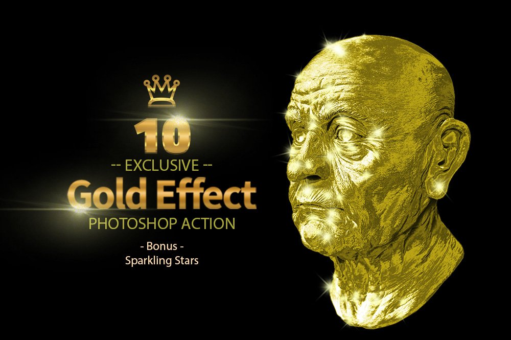 10 Gold & Sparkling Stars example image 6